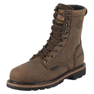 "Justin Original Work Boots 8"" Worker II Round Toe Met Guard CT WP Wyoming Peanut"