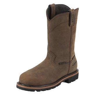 "Justin Original Work Boots 10"" Pulley Round Toe Met Guard CT WP Wyoming Peanut"