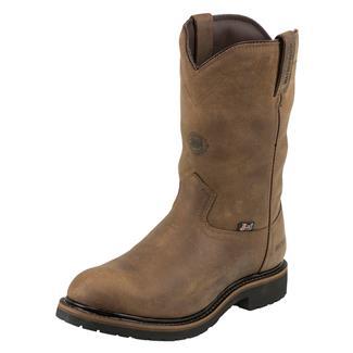 "Justin Original Work Boots 10"" Drywall Round Toe 600G WP Wyoming Peanut"