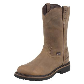 "Justin Original Work Boots 10"" Drywall Round Toe WP Wyoming Peanut"