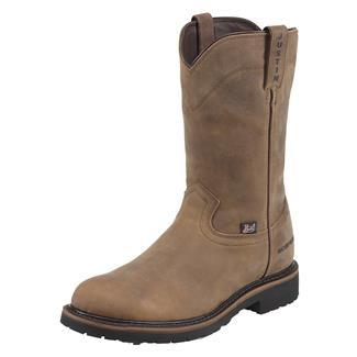 "Justin Original Work Boots 10"" Drywall Round Toe WP Wyoming Peanut"