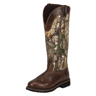 "Justin Original Work Boots 17"" Fielder Snake Boots SZ WP Rugged Tan / RealTree AP"