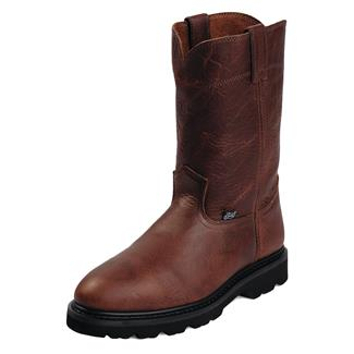 "Justin Original Work Boots 10"" Premium & Light Duty Round Toe ST Tan Premium"
