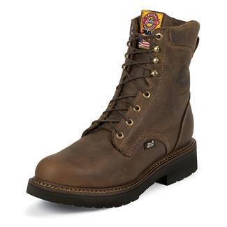 "Justin Original Work Boots 8"" Balusters Bay Round Toe Rugged Bay Gaucho"