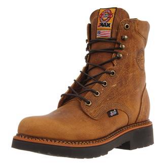 "Justin Original Work Boots 8"" Blueprint Round Toe Rugged Tan Gaucho"