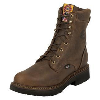 "Justin Original Work Boots 8"" Balusters Bay Round Toe ST Rugged Bay Gaucho"