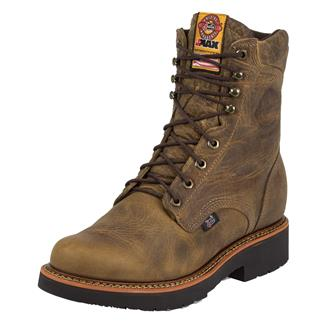 "Justin Original Work Boots 8"" Blueprint Round Toe ST Rugged Tan Gaucho"