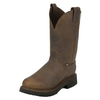 "Justin Original Work Boots 11"" J-Max Round Toe Rugged Bay Gaucho"