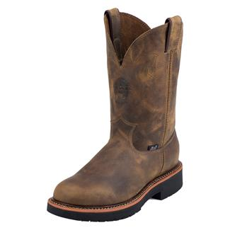 "Justin Original Work Boots 11"" Blueprint Round Toe Rugged Tan Gaucho"