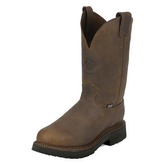 "Justin Original Work Boots 11"" Balusters Bay Round Toe ST Rugged Bay Gaucho"