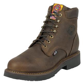 "Justin Original Work Boots 6"" J-Max Round Toe ST Rugged Bay Gaucho"