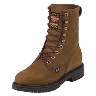 "Justin Original Work Boots 8"" Transcontinental Round Toe GTX Aged Bark"