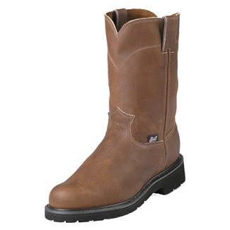 """Justin Original Work Boots 10"""" Double Comfort Round Toe Aged Bark"""