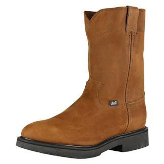 "Justin Original Work Boots 10"" Double Comfort Medium Round Toe Aged Bark"