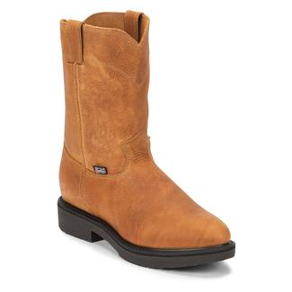 "Justin Original Work Boots 10"" Conductor Round Toe Copper Caprice"