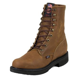 """Justin Original Work Boots 8"""" Double Comfort Round Toe ST Aged Bark"""