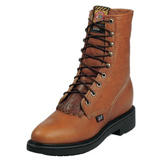 "Justin Original Work Boots 8"" Conductor Round Toe Copper Caprice"