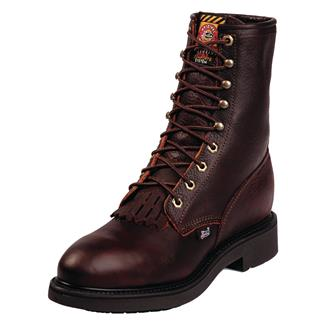 """Justin Original Work Boots 8"""" Conductor Round Toe ST Briar Pitstop"""