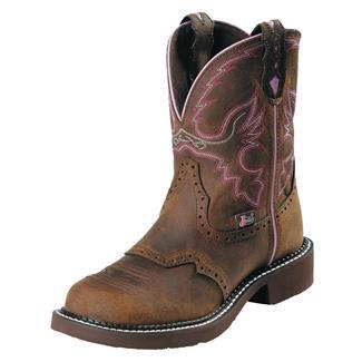 "Justin Original Work Boots 8"" Wanette ST Aged Bark"