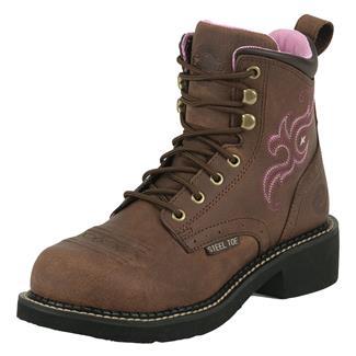 "Justin Original Work Boots 6"" Katerina ST Aged Bark"