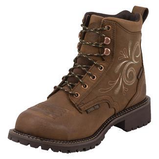"Justin Original Work Boots 6"" Katerina ST WP Aged Bark"