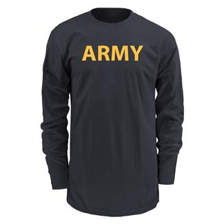 Soffe Long Sleeve Army PT T-Shirt Black