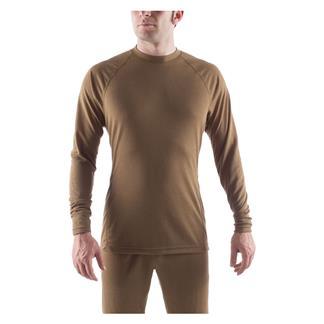 Massif Long Sleeve PCU Level 1 Crew Shirt Army Brown