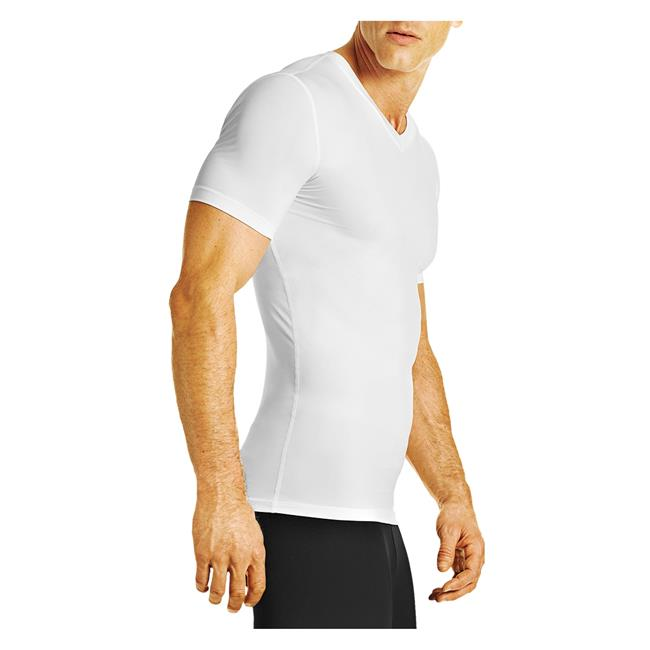Mens Tommie Copper Recovery Compression V Neck T Shirt