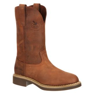 "Georgia 10"" Carbo-Tec Round Toe Wellington Prairie Chestnut"