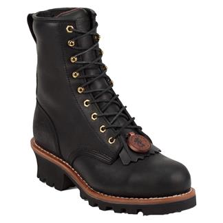 "Chippewa Boots 8"" Logger ST Black Oiled"