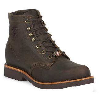 "Chippewa Boots 6"" Classic Lace-Up Chocolate Apache"