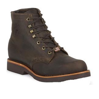 "Chippewa Boots 6"" Ellison Lace-Up Chocolate Apache"