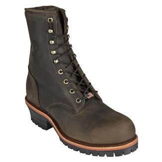 "Chippewa Boots 8"" Classic Logger ST Chocolate Apache"