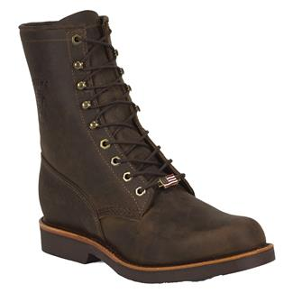"Chippewa Boots 8"" Classic Lace-Up Chocolate Apache"