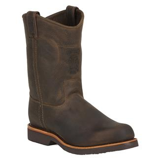 "Chippewa Boots 10"" Classic Pull-On Chocolate Apache"