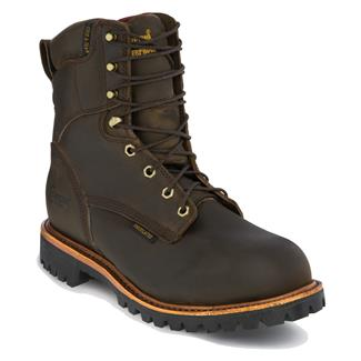"""Chippewa Boots 8"""" Utility Lace-Up 400G ST WP Bay Apache"""