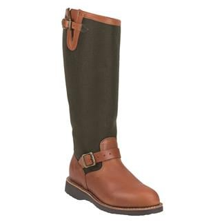 "Chippewa Boots 17"" Pull-on Snake Boots Brown Espresso"