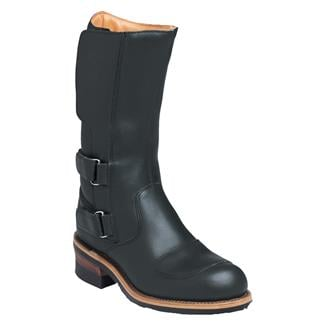 """Chippewa Boots 12"""" Engineer Rally Boots Black Odessa"""