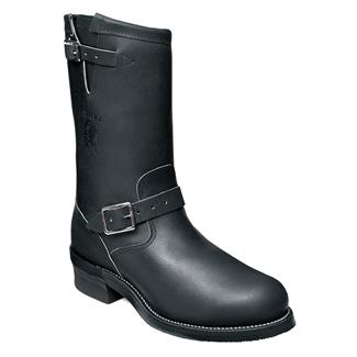 """Chippewa Boots 11"""" Engineer Pull-on ST Black Odessa"""
