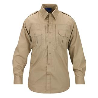 Propper Lightweight Long Sleeve Tactical Dress Shirts Khaki