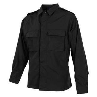 propper-poly-cotton-ripstop-ls-2-pocket-bdu-shirts-black