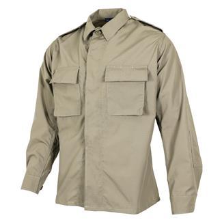 propper-poly-cotton-ripstop-ls-2-pocket-bdu-shirts-khaki
