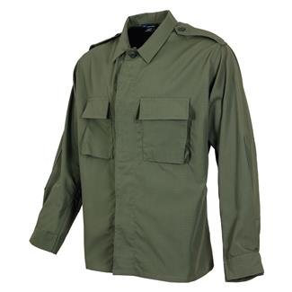 propper-poly-cotton-ripstop-ls-2-pocket-bdu-shirts-olive