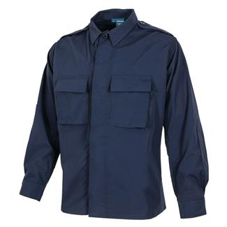 propper-poly-cotton-ripstop-ls-2-pocket-bdu-shirts-lapd-navy