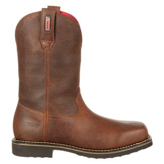 "Rocky 11"" Workmax Pull-On ST WP Brown"