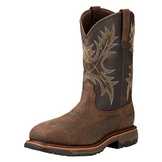"""Ariat 11"""" Workhog Wide Square Toe CT WP Bruin Brown / Coffee"""