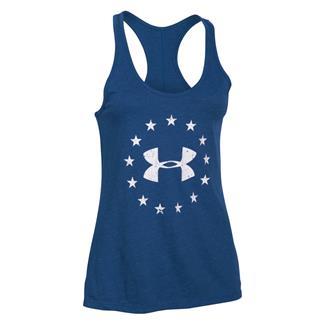 Under Armour Freedom Tri-Blend Racerback Shirt American Blue / White