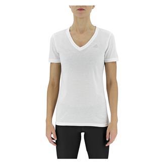 Adidas Ultimate V-Neck T-Shirt White / Matte Silver