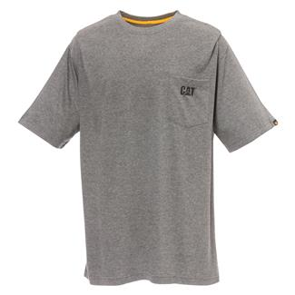 CAT Logo Pocket T-Shirt Dark Heather Gray