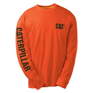 CAT Long Sleeve Trademark Banner T-Shirt Adobe Orange